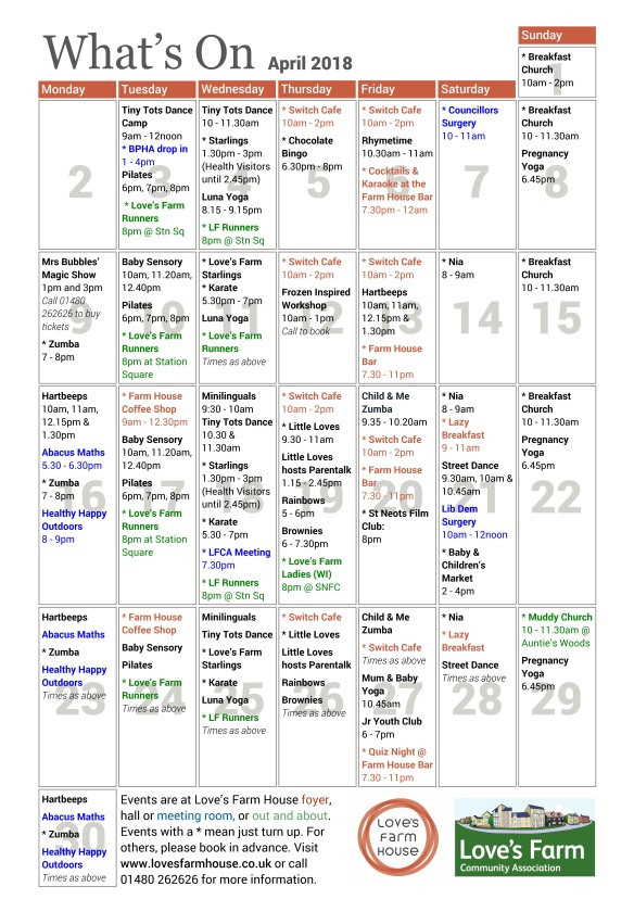 PagePlus What's On - April18 V2