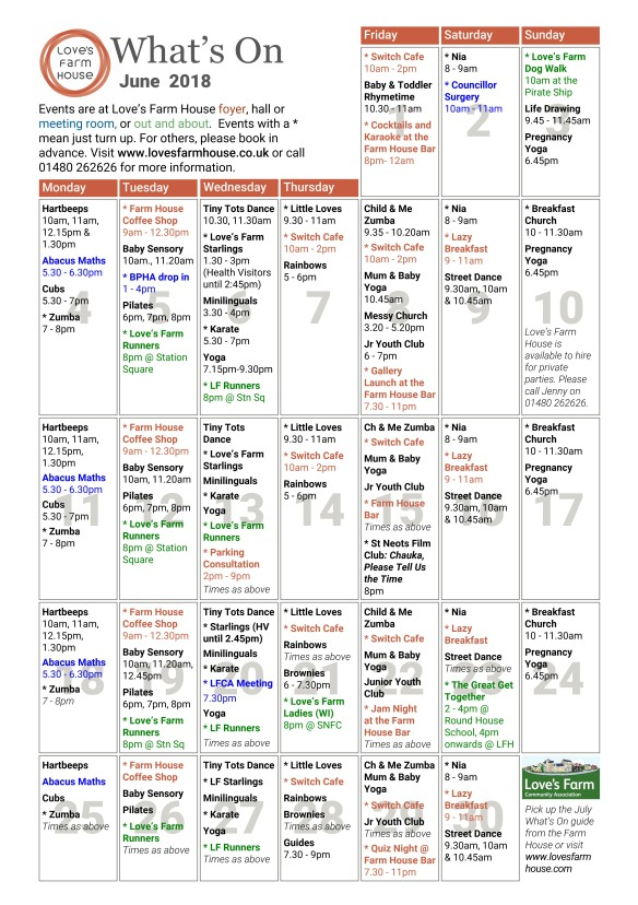 What's On - June 2018